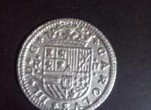 قطعة نقدية فضية اسبانية بتاريخ 1709