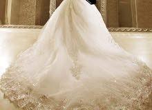 بدلة عروس بيضة للبيع او للاجار