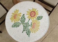 Mosaic handmade round table