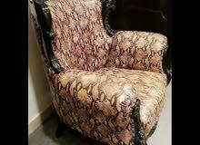 للبيع كرسي لشخص واحد جلد اصلي