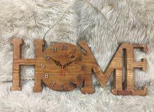 ساعة من الخشب عمل يدوي ( Hand Made )