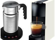 Nesspreso coffee machine + Milk Pod
