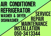 Ac Fridge Washer Dryer Dishwasher Repairing Fixing Works in Dubai