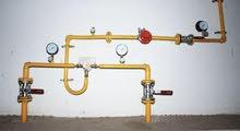 تركيب انابيب الغاز