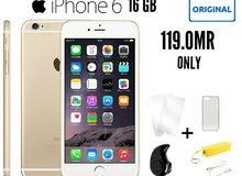 اقوى التخفيضات ايفون 6 ذاكرة 16GB بسعر مميز جديد مع ضمان و هدايا لحق حالك