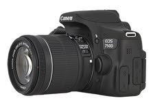 كاميرا كانون D750 مستعملة اقل من شهر كامل الاغراض مع قاعدة تصوير و ذاكرة داخلية سعت 128