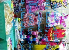 بيع محل تجاري بيع ادوات الخياطة وبيع الاقمشه والملابس الجاهزه