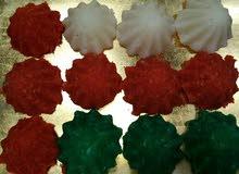 حلوة النارجيل بألوان العلم الوطني