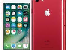 مطلوب ايفون 7 مستعمل نظيف بكرتونه احمر 128 جيجا