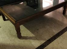 Handmade Solid Wood Coffee Table Made from An Antique Indian Door طاولة قهوةمصنوعة من باب هندي عتيق