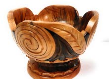 Decorative hand crafted wooden bowl