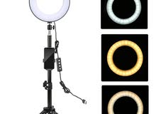 LED Ring Light رينغ لايت (اضاءة تصوير)باحجام مختلفة للبث المباشر والتصوير الاحترافي