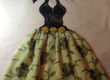 فستان بناتي من الكروشيه و القماش