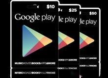 بطاقات Google Play USA + Apple store USA