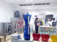 Laundry and dry cleaning man