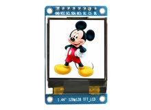 1.44'' SPI LCD Module with ST7735 Controller (128x128 px) - شاشة عرض ال سي دي 1.44 انش