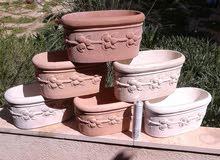 احواض نباتات اسمنتية بمستوى من الجودة بنوع من الدعم على عامل الكسر