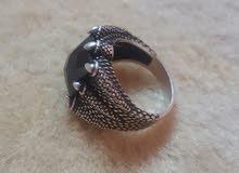 خاتم ( الوحش )فضي اصلي تركي بالسوم
