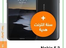 جهاز نوكيا 5.3 زيرو للبدل بتاب كويس معاه كل حاجته