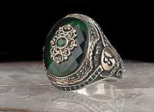 خواتم الفضة 925 والزركون الأخضر للجنسين