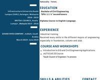 مهندس مدني حديث التخرج خريج (ماليزيا)
