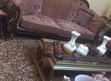 طقم كنب فاخر جديد مع طاولات مصري محفر قزاز وخشب
