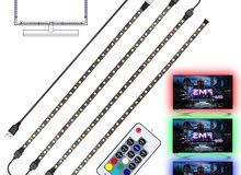 كابل USB ضوء• يوضع على محيط الشاشه • يمكن التحكم بالاضاءة والالوان عن طريق