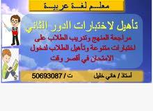 معلم لغة عربية.