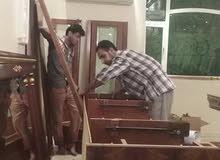 متخصصون فى فك ونقل وتركيب جميع غرف النوم وكافة اغراض المنازل مع خاصية التغليف لمن يرغب فى صنعاء