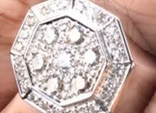 خاتم الماس VS1 رجالي انيق لاصحاب التميز والذوق الرفيع