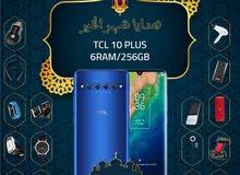 TCL 10 plus ram6G memory 256G مع بكج هدية وتغليف حراري مجاناً