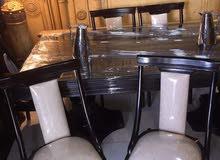 طاولة سفره فخامة خشب زان 6 كراسي