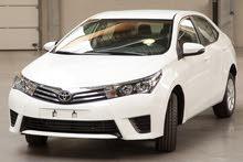 للايجار تويوتا كورولا 2016 بسائق و بدون سائق