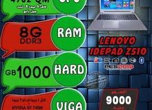 كسر زيرو,,LENOVO IDEPAD Z510 كور i7 4702 QM رمات 8 هارد 1TB