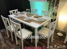 طاولات طعام خشب ماليزي مع توصيل بالرياض