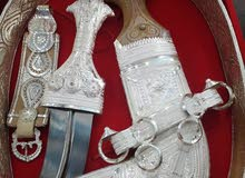 خنجر سعيدي مع قرن عماني توصيل مجاني