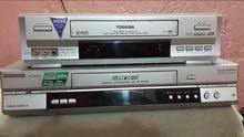 جهاز كاسيت فيديو VHSحجم كبير ماركة توشيبا و LG و باناسونيك مع الريمونت شرط الشغل