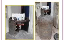 rare gas cylinder  medium size  With a new original gas regulator in carton  Pri