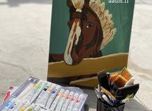 لوحه فنيه رسم يدوي