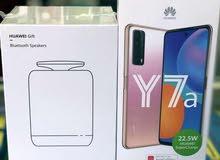Huawei Y7a  كرتونة مغلقة + سبيكر هواوي اصلي