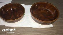 صحون فخار للبيع مقاسين صغير وكبير الصغير 0.200 فلس والكبير 0.290 فلس (جديد) للاتصال:99993872
