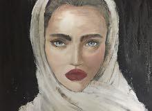 لوحة فنيه بالوان زيتيه