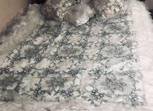 مفرش سرير عروسة ابيض مترز
