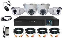 كيت كاميرات مراقبة النوعية الاصلية الماركة Winposse يحتوي الكيت على 4 كميرات وdvr وملحقاته فل اتش دي