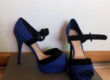 Charles and Keith open toe heels