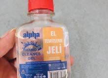 جل كحولي للبيع جملة من شركة ألفا التركية الحجم 100 ملي