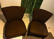 Sofa Chairs- Brown (Set Of 2 )- SAR 300