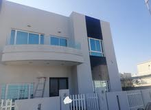 Villa for rent in Amwaj Islands, five rooms and one maid room furnished with com