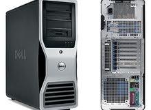 DELL WORKSTATION T5500 دبل برسيسور كاش 24 رام 24 بفيجا NVIDIA QUADRO FX 600
