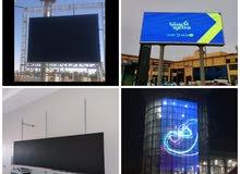 شاشات عرض عملاقة ومقاسات مختلفة حسب الطلب